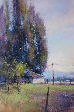 Ranch Sentinels by Richard McKinley Pastel ~ 18 x 12