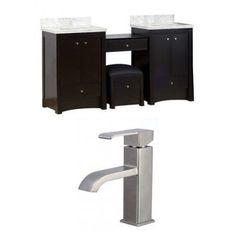 American Imaginations Elite 70'' Double Birch Wood-Veneer Bathroom Vanity Set