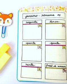 """26 curtidas, 2 comentários - Luana (@bujoluana) no Instagram: """"Bom dia com a minha primeira semana de janeiro já pronta ✨ . . Irei fazer somente em uma página as…"""""""