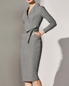 Sophisticated Work Attire and Office Outfits for Women to Look Stylish and Chic Classy Dress, Classy Outfits, Vintage Outfits, Casual Outfits, Robes Glamour, Vintage Mode, Looks Street Style, Looks Chic, Dress Silhouette