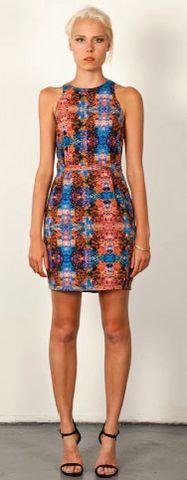 Three Of Something Lotus Dress - Loving the style, shape & print of this dress! Perfect for work or play $140 Lotus, High Neck Dress, Shape, Play, Dresses, Fashion, Turtleneck Dress, Vestidos, Moda