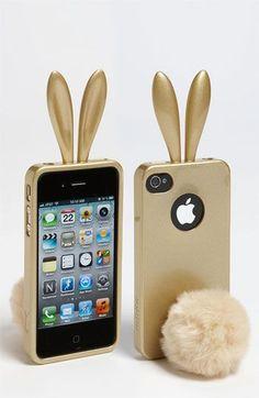 Rabbit tail phone case