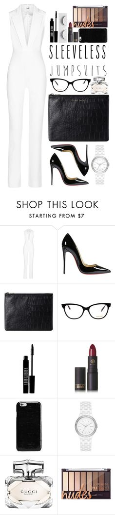 """""""Modern White"""" by ponyfly ❤ liked on Polyvore featuring Cushnie Et Ochs, Christian Louboutin, Status Anxiety, Tom Ford, Lord & Berry, Lipstick Queen, Maison Margiela, DKNY, Gucci and modern"""