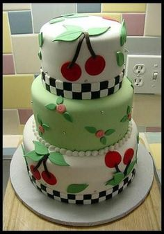 I pinned this in home decor bc i heart and Mary Engelbreit Cake.would be fun to make! Cupcakes, Cake Cookies, Cupcake Cakes, Mini Cakes, Pretty Cakes, Beautiful Cakes, Amazing Cakes, Love Cake, Take The Cake