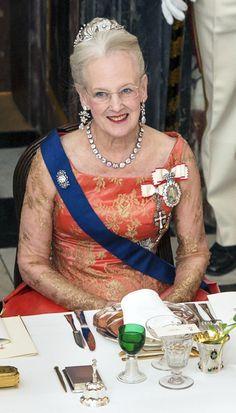 Queen Margrethe of Denmark dazzle in Copenhagen!  at a dinner for Finland's President April 2013