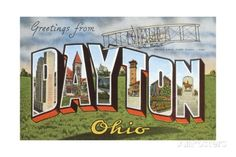 Greetings from Dayton, Ohio Giclee Print at AllPosters.com