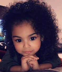 Cute or not? Curly Hair Baby Boy, Curly Kids, Boys With Curly Hair, Mixed Girl Curly Hair, Pretty Mixed Girls, Cute Mixed Kids, Pretty Baby, Cute Black Babies, Cute Little Girls