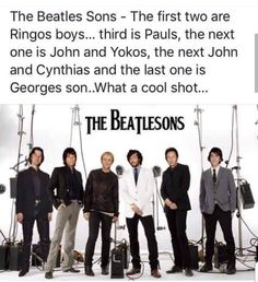 The Beatles sons. Beatles Band, The Beatles, Beatles Poster, Music Is Life, My Music, Travelling Wilburys, The Ed Sullivan Show, Recorder Music, People Of Interest