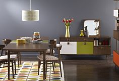 Orla Kiely unveils her first collection of neo-vintage furniture at Maison & Objet // © Orla Kiely Orla Kiely, Wabi Sabi, Vintage Furniture, Home Furniture, Canvas Paintings For Sale, Oil Paintings, Turbulence Deco, Kitchen Pictures, Wall Pictures