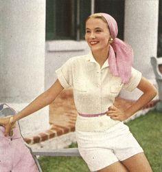 Bermuda Pastels • 1950s Knitting Engagement Cardigan Top Jumper • 50s Vintage Vogue Pattern • 1954 Retro Women's Knit Digital PDF by TheStarShop on Etsy