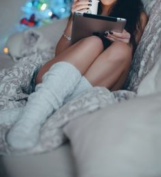 .I want to be in that position right now, With those socks!!