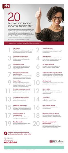 20 Ways to Rock at Employee Recognition