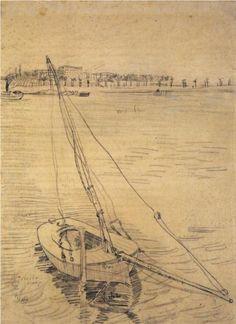 Sailing Boat on the Seine at Asnieres - Vincent van Gogh