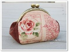 tutorial & pattern for vintage rose purse frame
