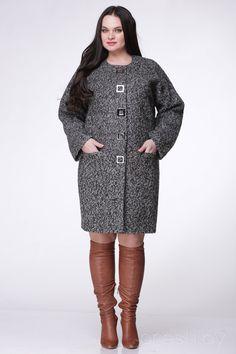 Пальто, 1220.5, темно серые тона, Nadin-N