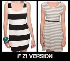 Stripes Trend - Comparing J.Crew and F21.