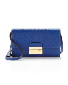 Gia Ostrich-Embossed Clutch by Michael Kors at Neiman Marcus.