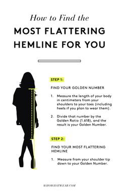 Style tips How to Make Your Legs Look Slim Every Time Your most flattering hemline : hemline golden ratio New Outfits, Fashion Outfits, Womens Fashion, Fashion Trends, Fashion Ideas, Fashion Clothes, Latest Fashion, Stylish Clothes, Fashion Tips For Women