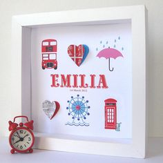 Personalised London Baby Girl Artwork