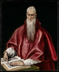 "El Greco (Domenikos Theotokopoulos) (Greek, 1540/41–1614). Saint Jerome as Scholar, ca. 1610. The Metropolitan Museum of Art, New York. Robert Lehman Collection, 1975 (1975.1.146) | This work is featured in ""El Greco in New York,"" on view through February 1, 2015. #mustache #movember"