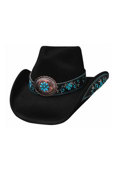 e51df4afb1f9fb Western Hats · This Cowgirl all for Good Black and Turquoise Hat is the  same style as our Best