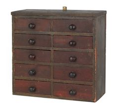 New England painted hanging apothecary chest, late 19th c.