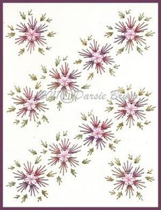 Floral Pinwheel Background Flower Embroidery Pattern for Greeting Cards via Etsy