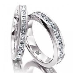 Wedding ring Memoireringe Memoireringe 103/104 Weißgold