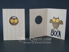 Howl-O-Ween Owl Note Card by Qbee - Cards and Paper Crafts at Splitcoaststampers