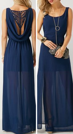 O Neck prom gowns,Sleeveless evening gowns,sexy prom gowns, custom made prom, Club Party Dresses, Blue Bridesmaid Dresses, Bridesmaids, Casual Dresses, Formal Dresses, Look Chic, Look Fashion, Dress Fashion, Dress Me Up