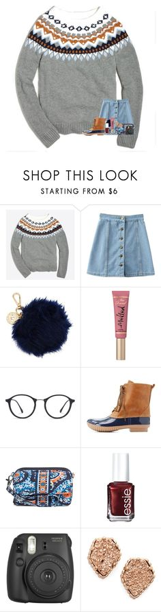 """""""cleaning out my likes"""" by madelinelurene ❤ liked on Polyvore featuring J.Crew, WithChic, Nica, Too Faced Cosmetics, Ray-Ban, Charlotte Russe, Vera Bradley, Essie, Fujifilm and Kendra Scott"""