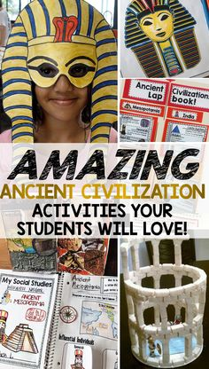 Ancient Civilization ideas, lessons, projects, and activities that students…