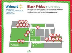Walmart Black Friday Store Map