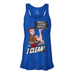These are the Only plates I CLEAN Tanktop - Crossfit tank by Life AsRx - #FitnessGear - Fitness Clothes