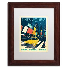 'Times Square' by Anderson Design Group Framed Graphic Art
