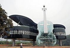 Massive Piano House with Transparent Violin.