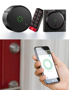 August Smart Home Access System - The Smart Lock was August's first offering. Now they're back with a trio of new smart security products: the updated Smart Lock that now links with Apple's Siri, plus the Smart Keypad that can generate one-time user codes, and Doorbell Cam that gives you a 140º HD view of who's at your door. | werd.com