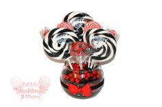 Small Ladybug Lollipop Candy Centerpiece by EdibleWeddings
