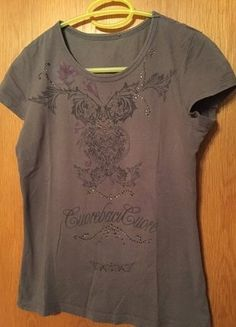 #Mexx #Shirt #T-Shirt #Damen #Damenshirt #grau #khaki #Strassteine #Mode  #Kleiderkreisel http://www.kleiderkreisel.de/damenmode/t-shirts/139639822-t-shirt-von-mexx