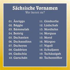 Das sind die 20 beliebtesten sächsischen Vornamen - Home des Tages 02.05.2016…