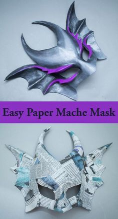 Using paper mache to create custom masks is an age old tradition, and there are a lot of ways to do it. Learn how to use wire mesh and paper strips to create a base that is perfectly fitted to your fa (Diy Face) Paper Mache Projects, Paper Mache Crafts, How To Paper Mache, Art Projects, Paper Clay, Diy Paper, Paper Art, Paper Mesh, Paper Mache Mask