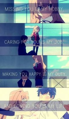 Toradora. Love phrases