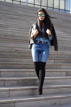 DENIM X CUISSARDES l Elizabeth l THEDEETSONE l http://thedeetsone.blogspot.fr