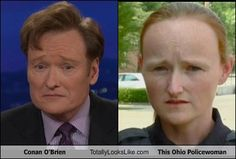 Conan O'Brien Totally Looks Like This Ohio Policewoman.