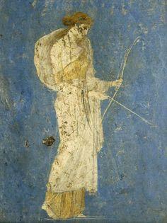 Diana from the Villa of Ariadne - Fresques - Pompéi