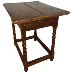 English Charles II, Childs Table   From a unique collection of antique and modern side tables at https://www.1stdibs.com/furniture/tables/side-tables/