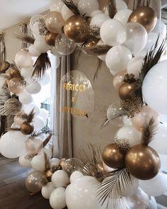 Diy Birthday Decorations, Bridal Shower Decorations, Balloon Decorations, Wedding Decorations, Wedding Balloons, Birthday Balloons, 18th Birthday Party, Birthday Party Themes, Shower Party