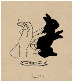 Rabbit hand shadow Can u do this Anna?