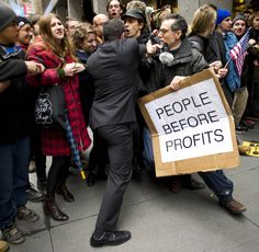 Occupy Wall Street protesters clash with the police in front of the New York Stock Exchange Protest Songs, Jesus Christ Superstar, People Shopping, The Washington Post, New Shop, Wall Street, The Voice, Politics, News