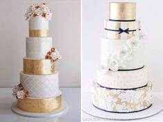 Metallic Cakes - Top Ten Wedding Cakes Trends in 2016 - EverAfterGuide